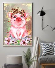 Pig Bandana Flower 16x24 Poster lifestyle-poster-1