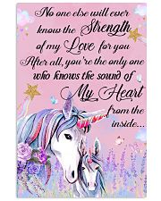 Baby Unicorn You are braver  Nursery Poster 16x24 Poster front