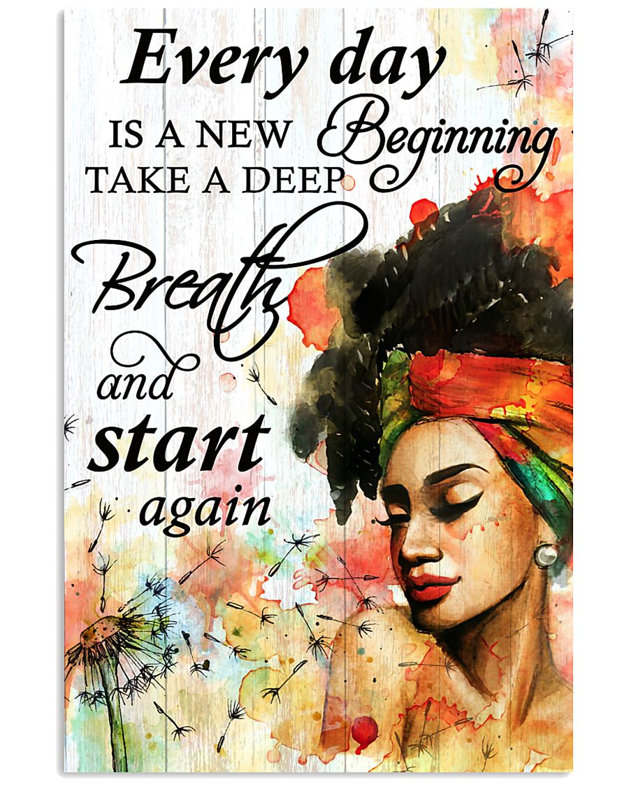 Afro Every Day Is A New Beginning 16x24 Poster