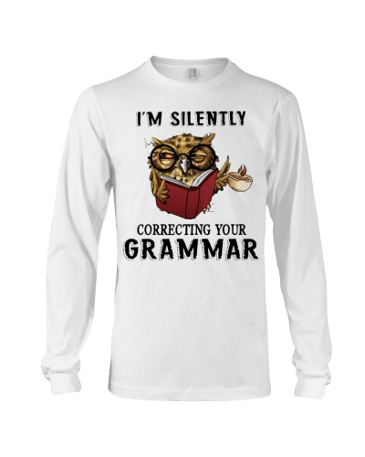 Owl I'm Silently Correcting Your Grammar