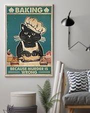 Baking because murder is wrong 16x24 Poster lifestyle-poster-1