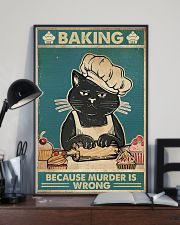 Baking because murder is wrong 16x24 Poster lifestyle-poster-2