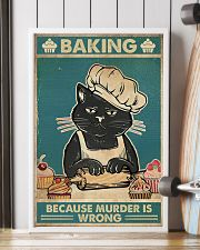 Baking because murder is wrong 16x24 Poster lifestyle-poster-4