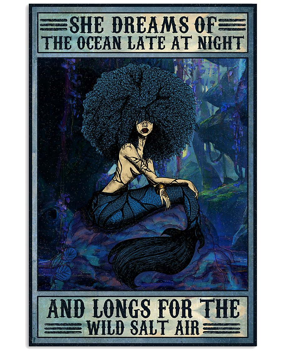 Afro She Dreams Of The Ocean 16x24 Poster