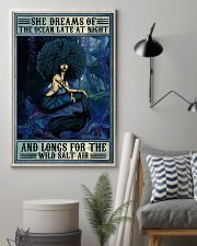 Afro She Dreams Of The Ocean 16x24 Poster lifestyle-poster-1