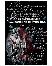 Skull I Choose You  16x24 Poster front