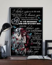 Skull I Choose You  16x24 Poster lifestyle-poster-2