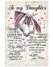 Unicorn To My Daughter Never Forget That 16x24 Poster front