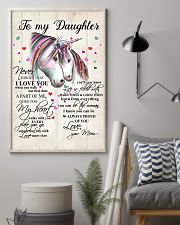 Unicorn To My Daughter Never Forget That 16x24 Poster lifestyle-poster-1