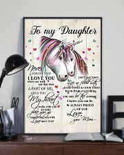 Unicorn To My Daughter Never Forget That 16x24 Poster lifestyle-poster-2
