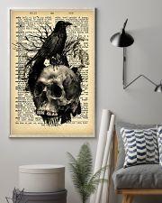 Raven Skull 16x24 Poster lifestyle-poster-1