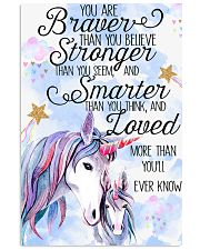 Baby Unicorn You are braver  Nursery Poster 11x17 Poster front