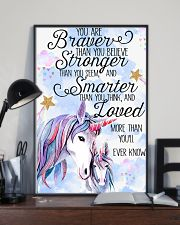 Baby Unicorn You are braver  Nursery Poster 11x17 Poster lifestyle-poster-2