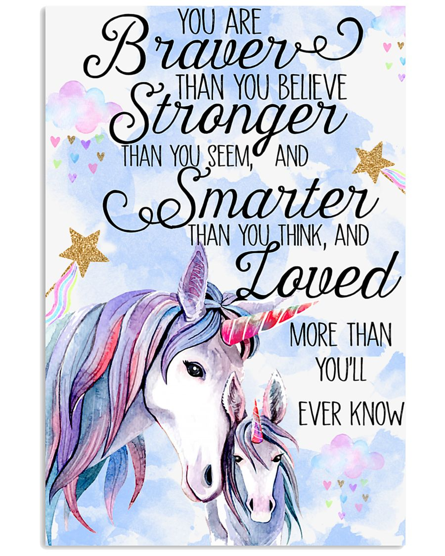 Baby Unicorn You are braver  Nursery Poster 16x24 Poster