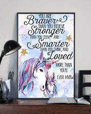 Baby Unicorn You are braver  Nursery Poster 16x24 Poster lifestyle-poster-2