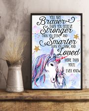 Baby Unicorn You are braver  Nursery Poster 16x24 Poster lifestyle-poster-3