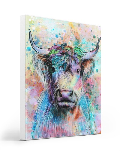 Cow Highland Cow Water Color