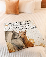 """Baby Horse No matter how much i say i love you Small Fleece Blanket - 30"""" x 40"""" aos-coral-fleece-blanket-30x40-lifestyle-front-01"""