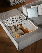 """Baby Horse No matter how much i say i love you Small Fleece Blanket - 30"""" x 40"""" aos-coral-fleece-blanket-30x40-lifestyle-front-03"""