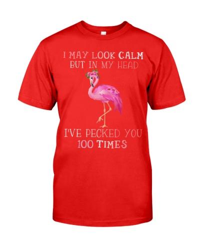 Flamingo I May Look Calm