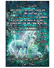 Unicorn To My Daughter Once Upon A Time Mother day 11x17 Poster front