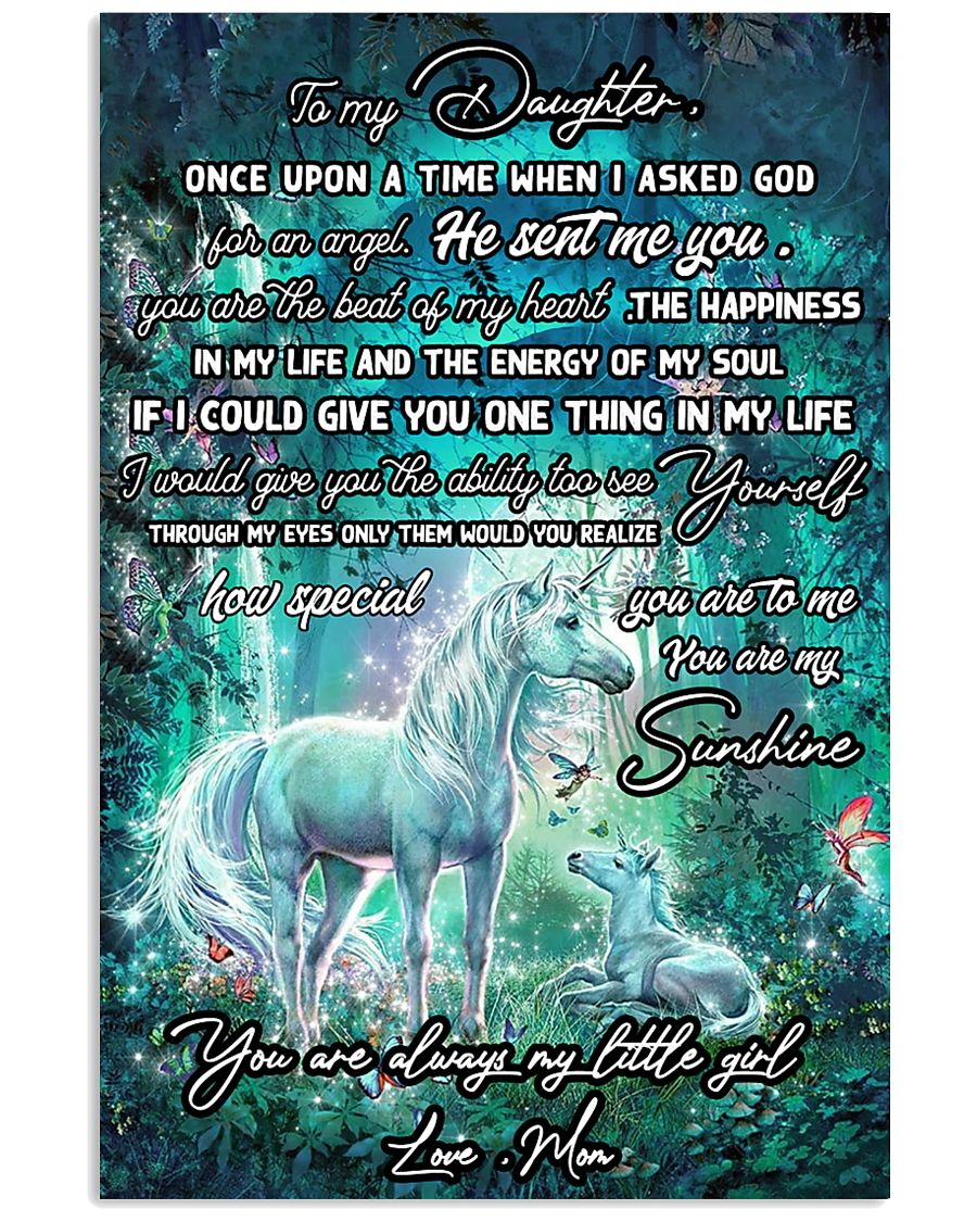 Unicorn To My Daughter Once Upon A Time Mother day 11x17 Poster