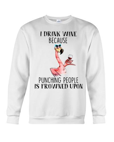 Flamingo I Drink Wine