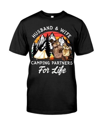 Owl Husband And Wife Camping Partners