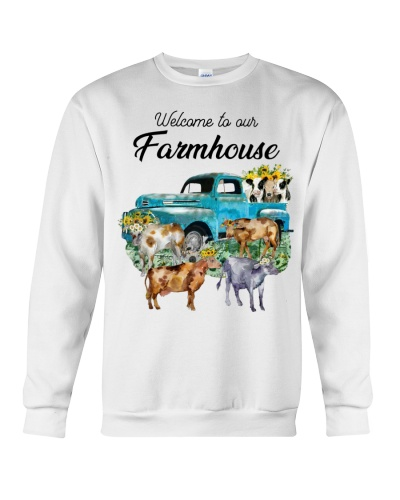 Cow Welcome To Our Farmhouse