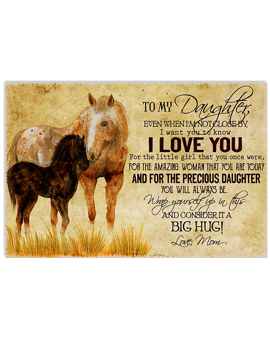 Horse To Daughter 24x16 Poster