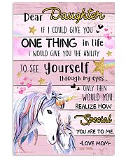 Unicorn Dear Daughter If I Could I Give You 16x24 Poster front