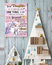 Unicorn Dear Daughter If I Could I Give You 16x24 Poster lifestyle-holiday-poster-2