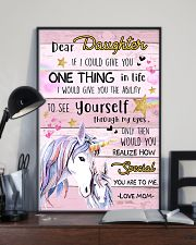 Unicorn Dear Daughter If I Could I Give You 16x24 Poster lifestyle-poster-2