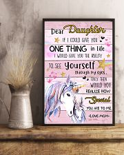 Unicorn Dear Daughter If I Could I Give You 16x24 Poster lifestyle-poster-3
