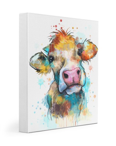 Cow Water Color