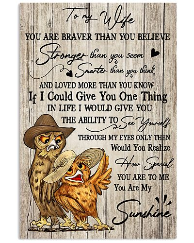 Owl To My Wife You Are Braver than You Believe