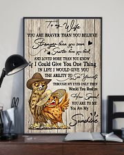 Owl To My Wife You Are Braver than You Believe 11x17 Poster lifestyle-poster-2
