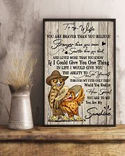 Owl To My Wife You Are Braver than You Believe 11x17 Poster lifestyle-poster-3