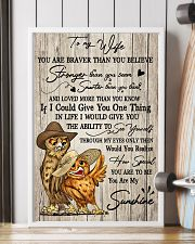 Owl To My Wife You Are Braver than You Believe 11x17 Poster lifestyle-poster-4