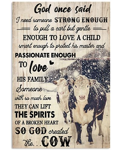 Cow God Once Said I Need Someone Strong Enough