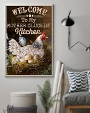 Chicken Welcome To My Mother's Cluckin 16x24 Poster lifestyle-poster-1