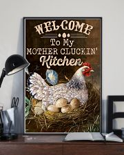 Chicken Welcome To My Mother's Cluckin 16x24 Poster lifestyle-poster-2