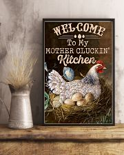 Chicken Welcome To My Mother's Cluckin 16x24 Poster lifestyle-poster-3