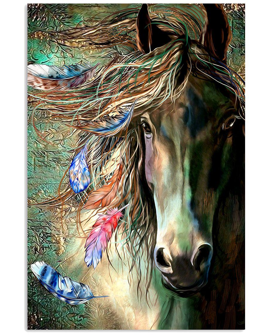 Horse Water Art 16x24 Poster