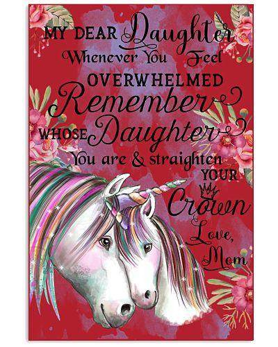 Baby Unicorn My Dear Daughet Whenever You Feel