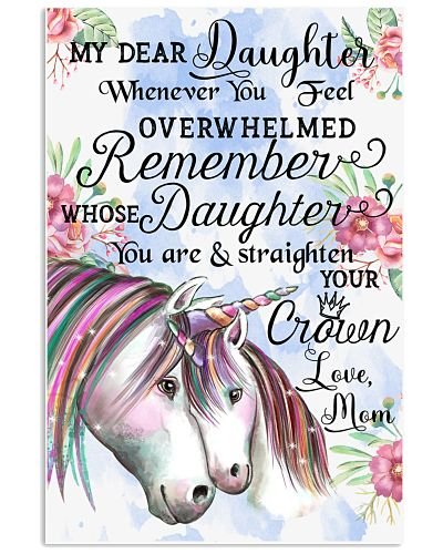 Baby Unicorn My Dear Daughet Whenever You Feel
