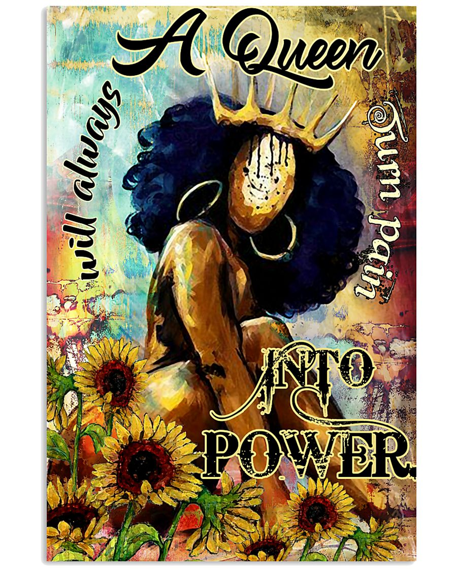 Afro A Queen will always turn pain into power 16x24 Poster