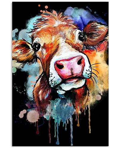 Cow Face Water Color