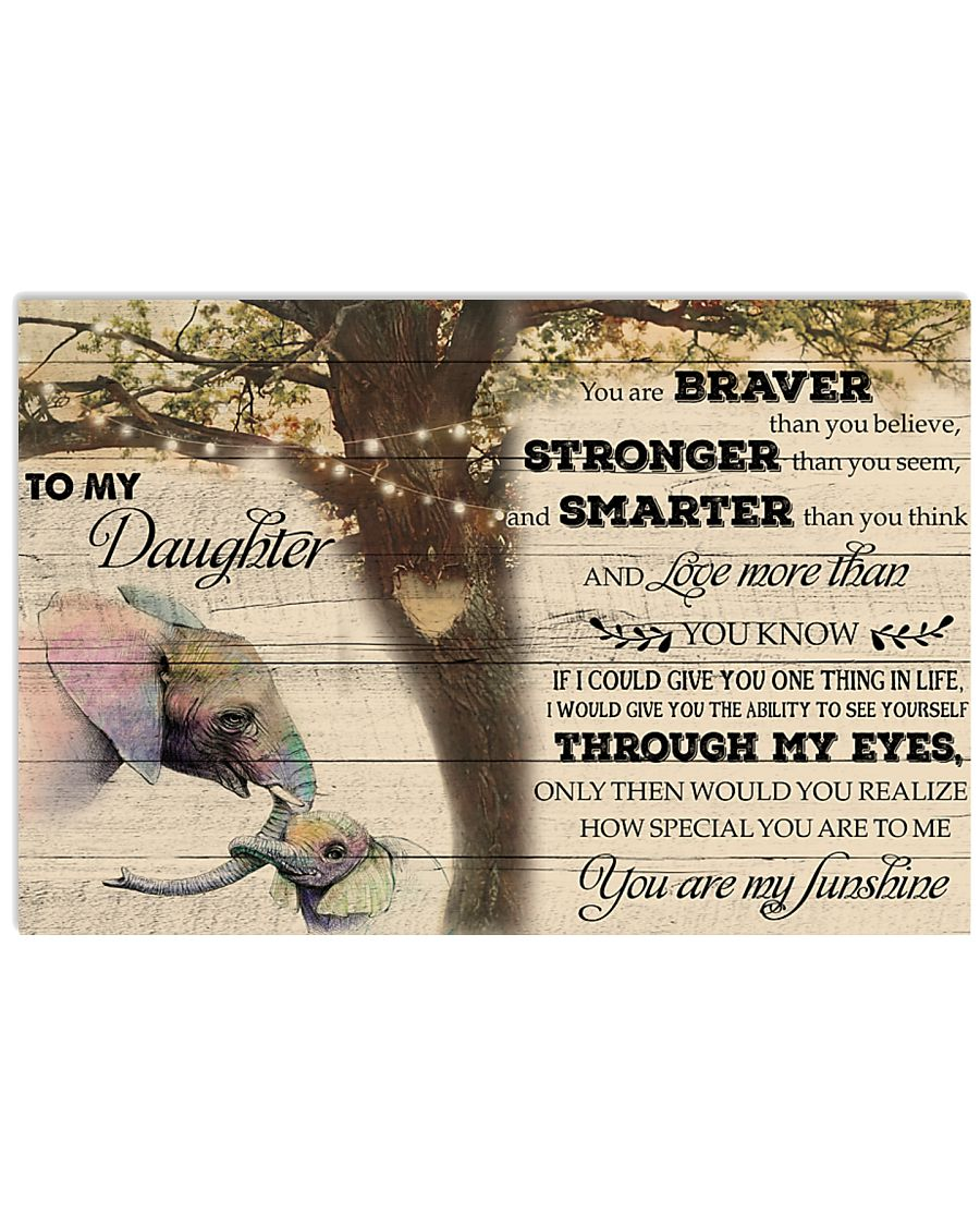 Elephant To My Daughter  24x16 Poster