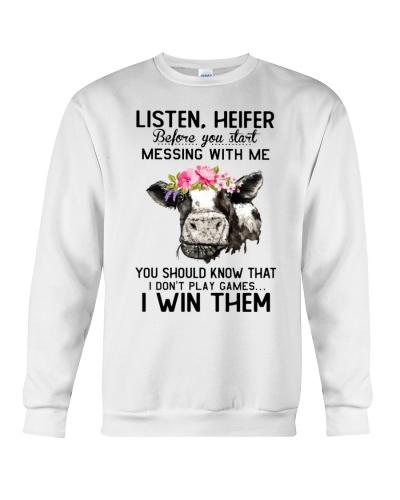 Cow Listen Heifer Before you start messing